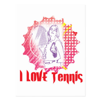 I Dig Tennis Love Postcard