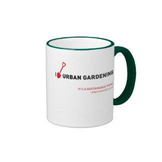 I Dig Urban Gardening Ringer Mug