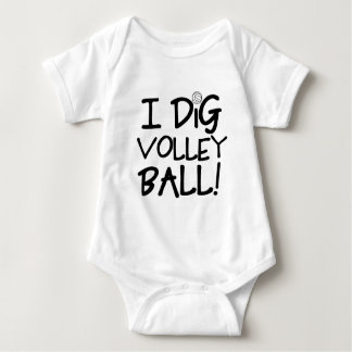 I Dig Volleyball Baby Bodysuit