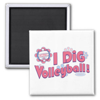 I Dig Volleyball by Mudge Studios Magnet