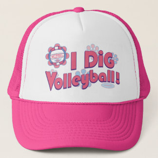 I Dig Volleyball by Mudge Studios Trucker Hat