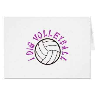 I Dig Volleyball Card