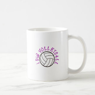 I Dig Volleyball Coffee Mug