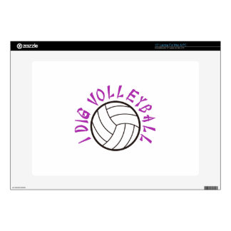 I Dig Volleyball Decals For Laptops