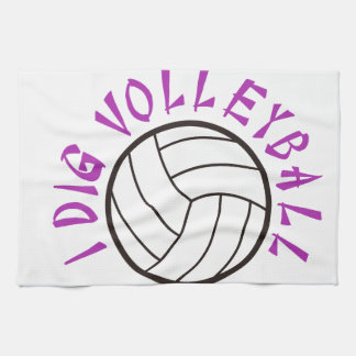 I Dig Volleyball Hand Towel