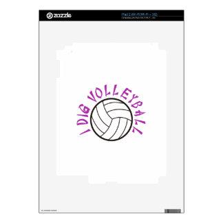 I Dig Volleyball iPad 2 Skin
