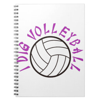 I Dig Volleyball Notebook