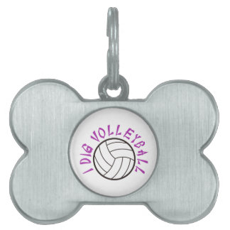 I Dig Volleyball Pet Tag