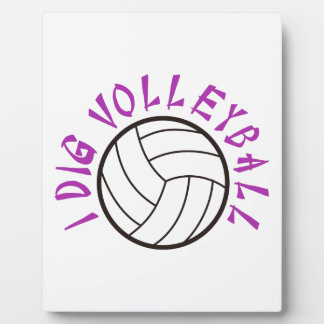 I Dig Volleyball Plaque