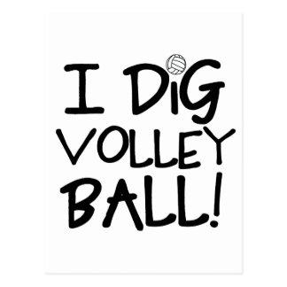I Dig Volleyball Postcard