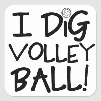 I Dig Volleyball Square Sticker
