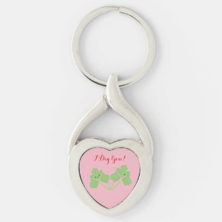 I Dig You! Parsley Valentine's day herb keychain