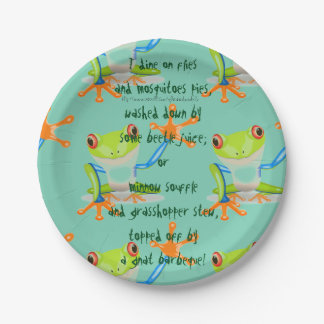 """I DINE ON FLIES!"" PAPER PLATE"