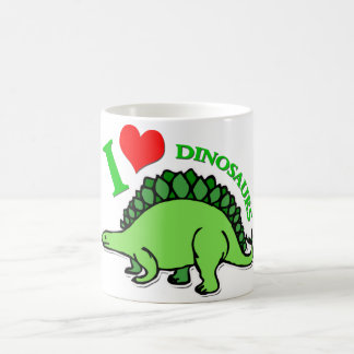 I dinosaurios del corazón taza clásica