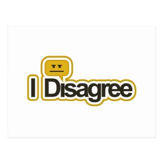 I Disagree - Postcard (Horizontal)