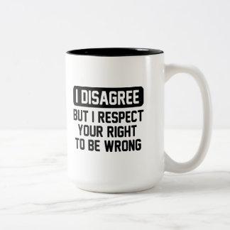 I Disagree Two-Tone Coffee Mug