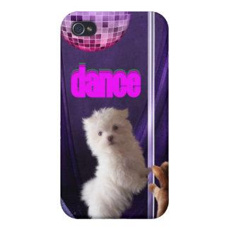 i disco de la danza del perro del gato de la diver iPhone 4 fundas