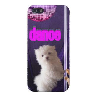 i disco de la danza del perro del gato de la diver iPhone 5 carcasa