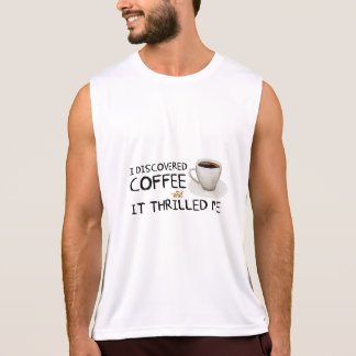 """I Discovered Coffee"" Men's Performance Tank Top"