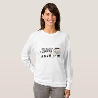 """I Discovered Coffee"" Women's Basic Shirt"
