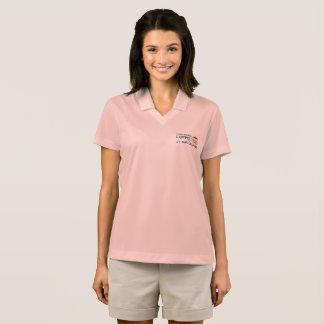 """I Discovered Coffee"" Women's NIKE Dri-Fit Polo Shirt"