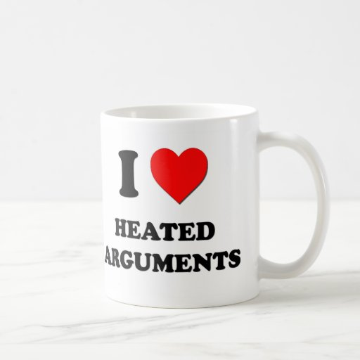I discusiones Heated del corazón Tazas