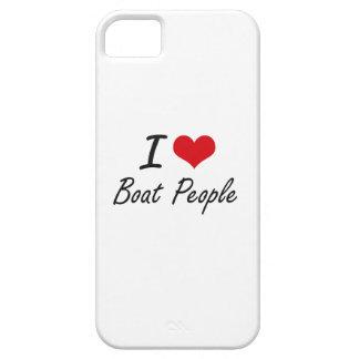 I diseño artístico de la gente de barco del amor iPhone 5 funda