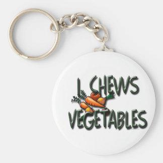 I diseño de las verduras de los Chews Llavero Personalizado