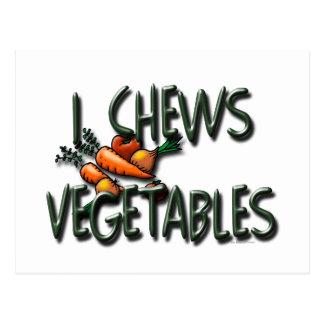 I diseño de las verduras de los Chews Postal