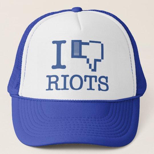 I DISLIKE RIOTS TRUCKER HAT