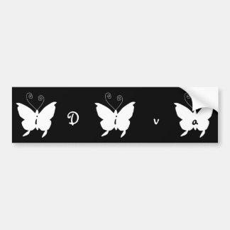i Diva Butterfly Bumper Sticker