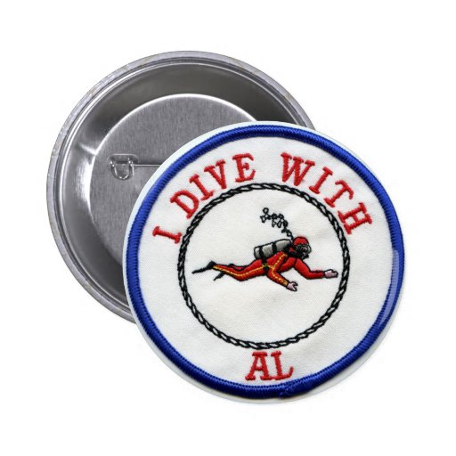 *I Dive With AL - Customized Pins