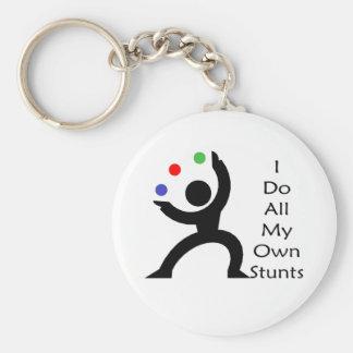 I Do All My Own Stunts Keychain