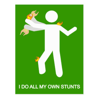 I DO ALL MY OWN STUNTS POSTCARD