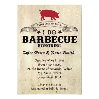 I Do Barbecue 5x7 Paper Invitation Card