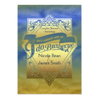 I DO BARBECUE BBQ Beach Shower Engagement Card