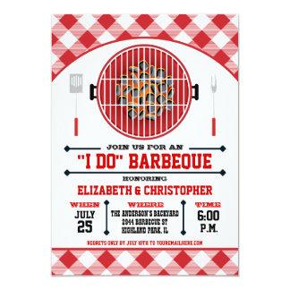 """""""I Do"""" Barbecue Grill Invitation Red"""