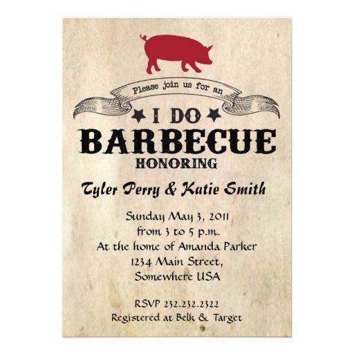 I Do Barbecue Invites