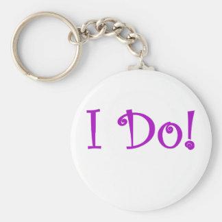 I Do Basic Round Button Keychain