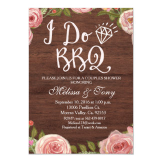 I Do BBQ Barbecue Shower Card