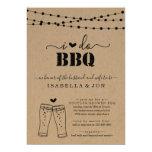 I Do BBQ Beer Couples Wedding Shower Engagement Invitation