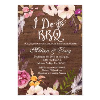 I do BBQ boho invitation
