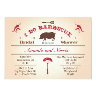 "I Do BBQ Bridal Shower Invitation 5"" X 7"" Invitation Card"