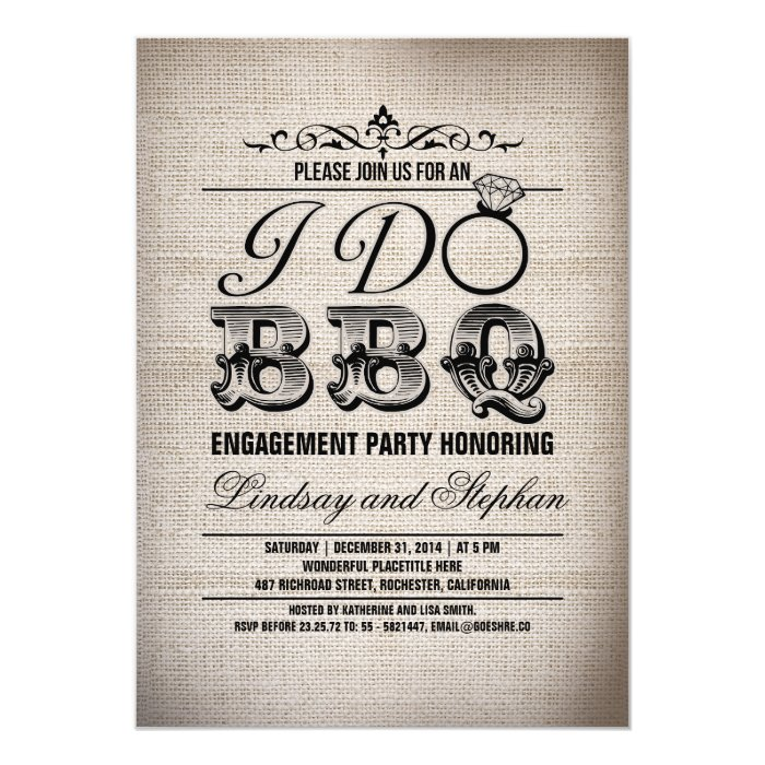 i do bbq engagement - i do bbq engagement couples shower invite ...
