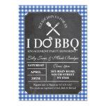 I DO BBQ Chalk Party Engagement Invitation