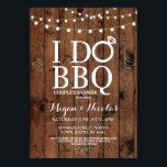 """I DO BBQ Chalkboard Wood Engagement Party Invite<br><div class=""""desc"""">Change the text to suit your party,  create an engagement party or couples shower. This cute rustic invite with string lights is perfect for a romantic look.</div>"""