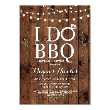 WOWWOWMEOW I DO BBQ Chalkboard Wood Engagement Party Invite