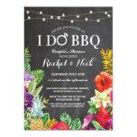 I DO BBQ Couples Shower Chalk Aloha Floral Invite