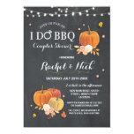 I DO BBQ Couples Shower Chalk Pumpkin Invite