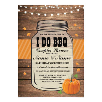 I DO BBQ Couples Shower Fall Autumn Engagement Card